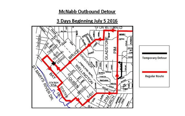 McNabb Outbound Bus Detour